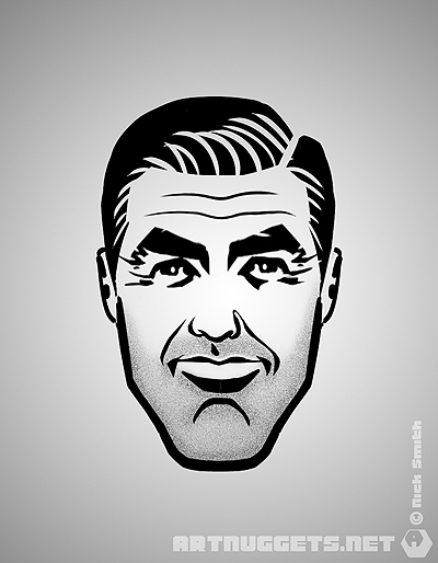 ArtNuggets-NickSmith-GeorgeClooney
